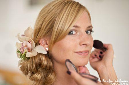 Get Ready die Braut Fotografie