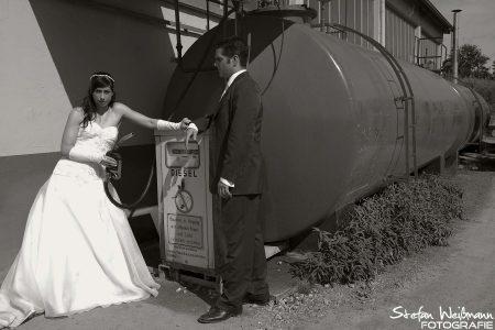 Hochzeit Fotografie auf dem Bauhof