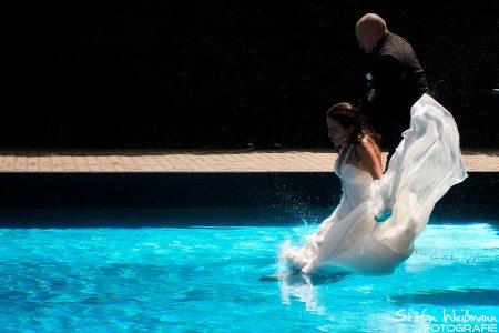 Hochzeit Shooting im Schwimmbad